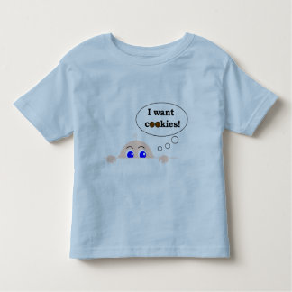 I WANT COOKIES TODDLER T-SHIRT