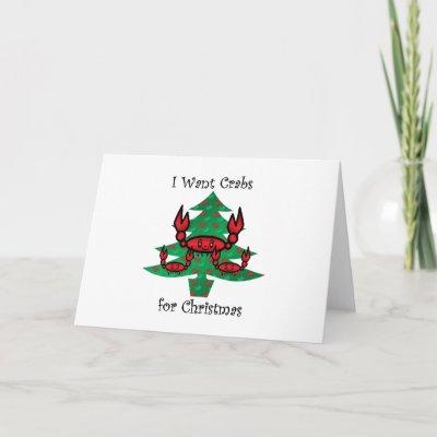 cute crab cartoon very merry christmas holiday card zazzlecom