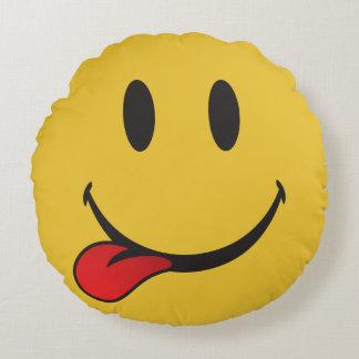 i want food emoji round pillow