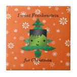 I want frankenstein for christmas ceramic tiles