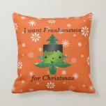 I want frankenstein for christmas pillow