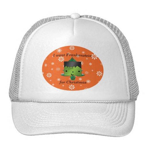 I want frankenstein for christmas trucker hat