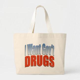 I Want Govt DRUGS RED Jumbo Tote Bag