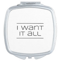 I WANT IT ALL!  Funny Shopping Makeup Mirror