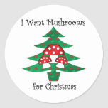 I want mushrooms for christmas sticker
