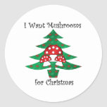 I want mushrooms for christmas stickers