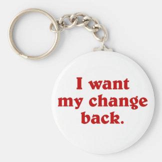 I want my change back keychains