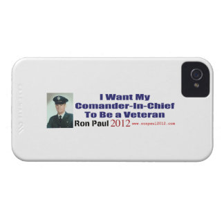 I Want My Commander In Chief To Be A Veteran iPhone 4 Case