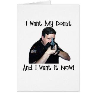 I Want My Donut Card