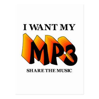 I Want My MP3 Postcard