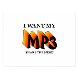 I Want My MP3 Postcard