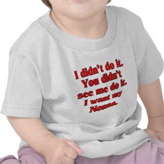 I want my nonna (Italian Grandmother) T-shirt