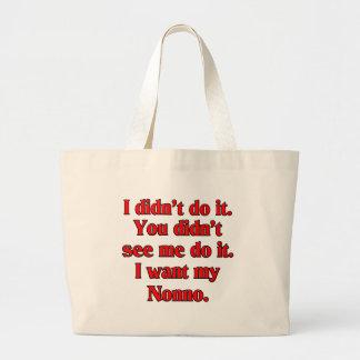 I want my nonno (Italian Grandfather). Large Tote Bag