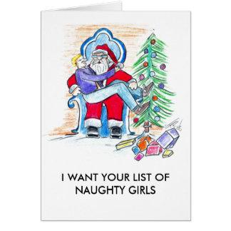 I WANT NAUGHTY GIRLS CARD