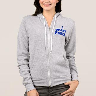 i want pasta hoodie