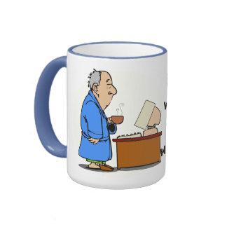 I want paychecks! ringer mug