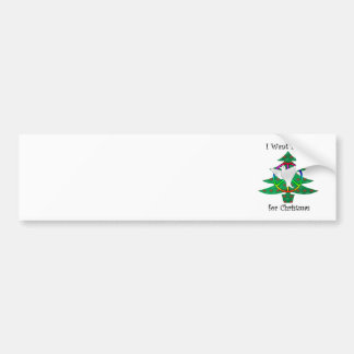 I want peace for Christmas Car Bumper Sticker