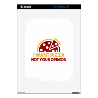 I Want Pizza Skins For iPad 2