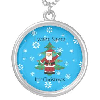 I want santa for christmas custom necklace
