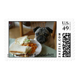 I want that Sandwich!!! Postage Stamp