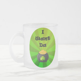 I want the Leprechaun Gold Frosted Glass Coffee Mug