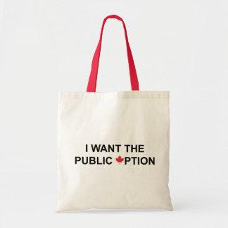 I Want the Public Option Tote Bag