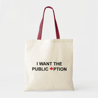 I Want the Public Option Tote Bag