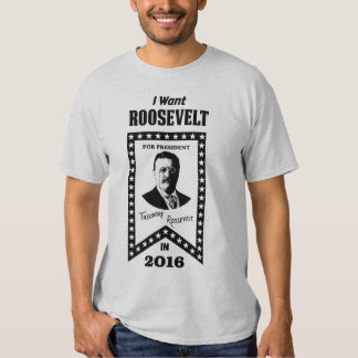 I Want Theodore Roosevelt For President In 2016 T Shirt