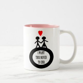 I Want This Never To End Two-Tone Coffee Mug