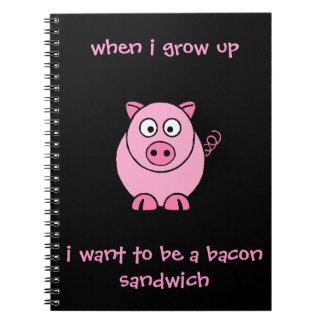 I Want to be...A Bacon Sandwich Spiral Notebook