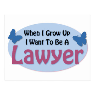 I want to be a Lawyer Post Card
