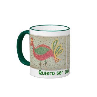 I want to be a peacock mug