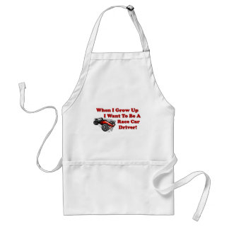 I Want to be A Race Car Driver Adult Apron
