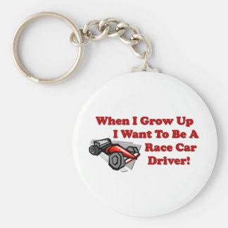 I Want to be A Race Car Driver Basic Round Button Keychain