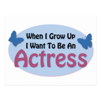 I Want to be an Actress Postcard