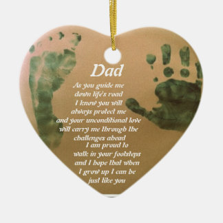 I want to be just like you dad ceramic ornament