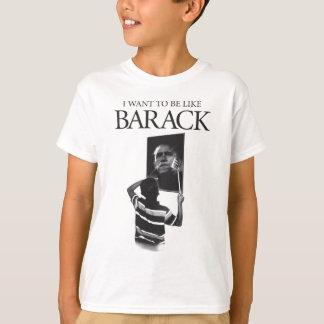 I Want To Be Like Barack Mirror T-Shirt