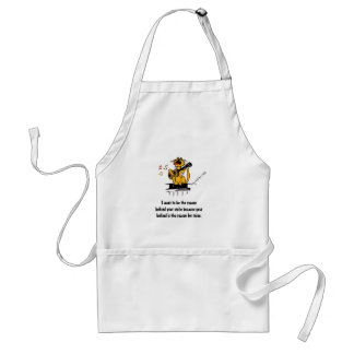 I want to be the reason behind your smile because standard apron