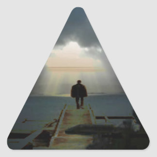I want to be where the light shines.jpg triangle sticker