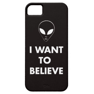 I Want To Believe (black) iPhone 5 Case