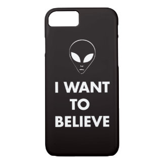 I Want To Believe (black) iPhone 7 Case