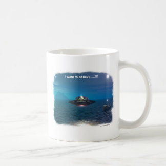 I want to believe coffee mug