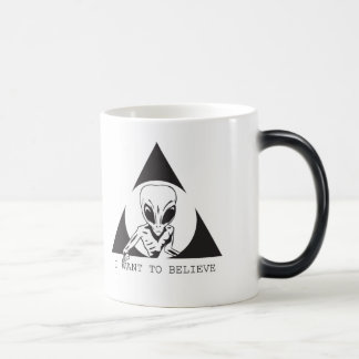 I WANT TO BELIEVE - CONSPIRACY CHANNEL MAGIC MUG
