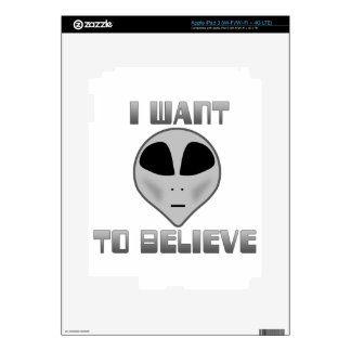 I Want to Believe iPad 3 Decals