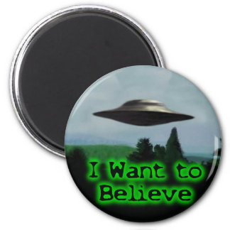 I want to believe 2 inch round magnet
