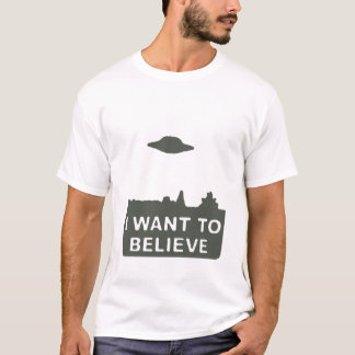 I WANT TO BELIEVE Muted Green T-Shirt