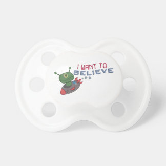 I want to Believe BooginHead Pacifier
