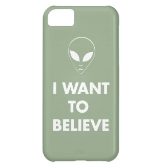 I Want To Believe (pale green) iPhone 5C Cover