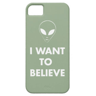 I Want To Believe (pale green) iPhone SE/5/5s Case