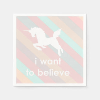 i want to believe paper napkin